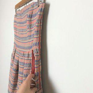 Rachel Roy Pastel Tribal Print Strapless Dress